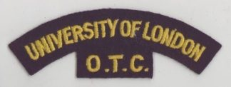 IVERSITY of LONDON O.T.C. cloth s/t yellow dk.bl