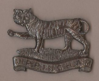 PINGHAM school O.T.C. bronzed or's cap badge r/s