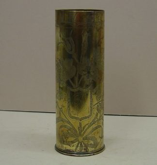 VASE made from a French 75mm fired brass shellcase