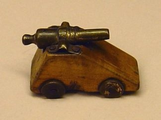 VICTORIAN MINIATURE/TOY  BRASS BARRELLED CANNON