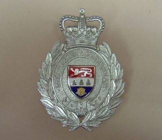 EAST MERCIA CONSTABLUARY QC Chrome enamel shield