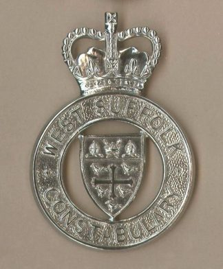 EAST SUFFOLK CONSTABULARY QC Chrome Shleld c/badge