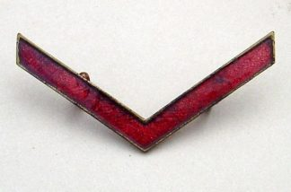 WWI WAR SERVICE CHEVRON in RED ENAMEL