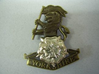 YORKSHIRE REGIMENT - bronzed and Silver plate OR's cap badge
