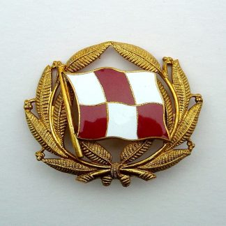 CANADIAN PACIFIC STEAMSHIPS LTD. Officer's enamel and Gilt cap badge