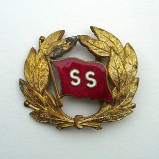 'ELLERMAN CITY LINE Ltd.' Officer's enamel and Gilt cap badge on Gilt wreath.