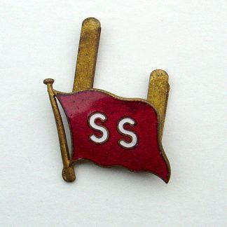 'ELLERMAN CITY LINE Ltd.' Officer's enamel and Gilt cap badge centre,  for mounting on gilt wreath.