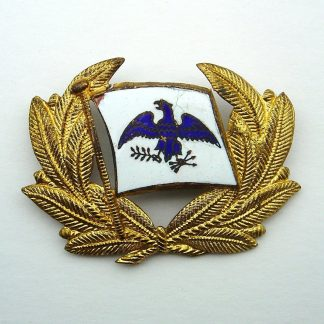 'ROOSEVELT STEAM SHIP COMPANY INCORPORATED' Officer's Enamel on gilt metal wreath.