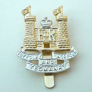 The SUFFOLK and NORFOLK YEOMANRY a/a cap badge