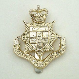 UNIVERSITY of LONDON O. T. C. QC anodised Cap Badge