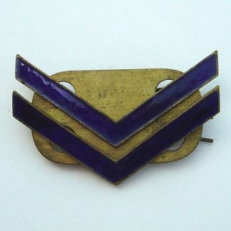 Corporal's Chevrons, Gilding metal and Blue enamel for No.1's and Walking out.