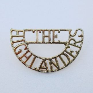 The HIGHLANDERS anodised aluminium shoulder title