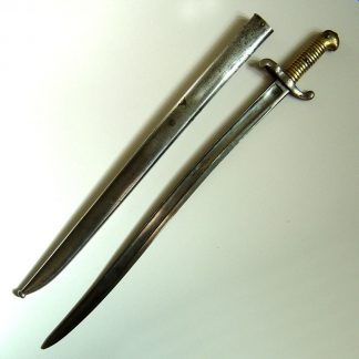BELGIUM brass hilted Yataghan Bayonet, probably made for the French Mod.1842 Percussion Rifle.