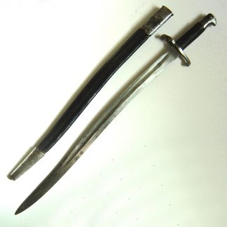 BRITISH 'BUSHED' Pat. 1860 'Yataghan' SWORD BAYONET, for MARTINI-HENRY RIFLE