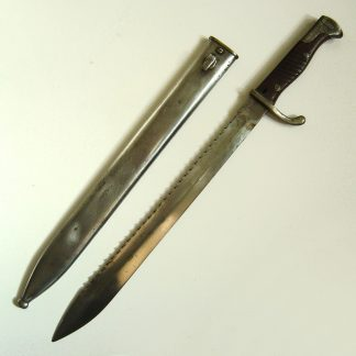 IMPERIAL GERMAN MAUSER G.1898/05 Saw-back 'Butcher Knife' bayonet.