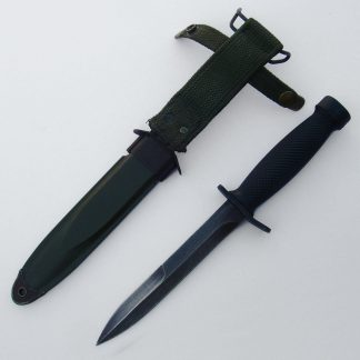 West German commercial M-3 Military knife in scabbard.