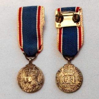 1937 CORONATION - miniature medal contemporary manufacture