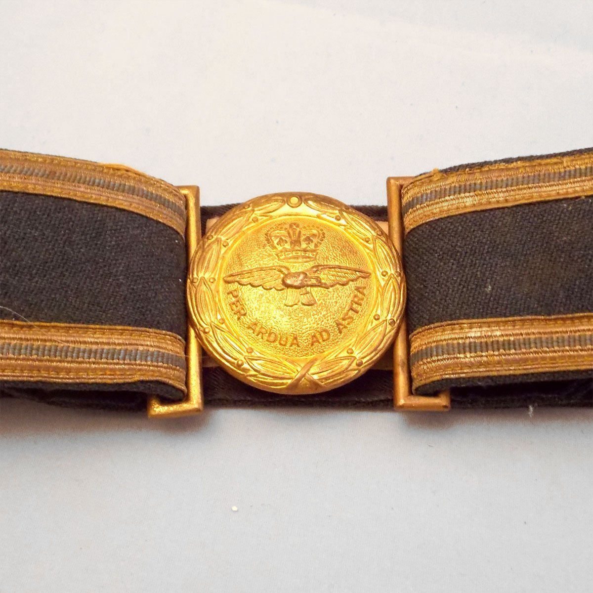 R  A  F  Band Dress Uniform belt with ERII Crown Buckle