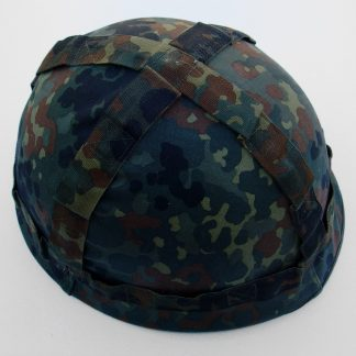West German (Federal) Army Steel helmet with Dark Rain-drop camouflage Cover