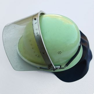 WEST GERMAN POLICE - Riot Police helmet, complete with lifting clear acetate visor