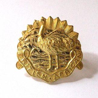 KINGS COLONIALS - BRITISH AFRICAN g/m OR's cap badge re-strike