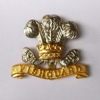 PEMBROKESHIRE YEOMANRY - OR's BI/m Cap badge (re-strike)