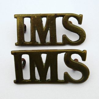 INDIAN MEDICAL SERVICE g/m shoulder title I.M.S., pair