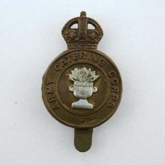 ARMY CATERING CORPS KC bi/m or's cap badge - original