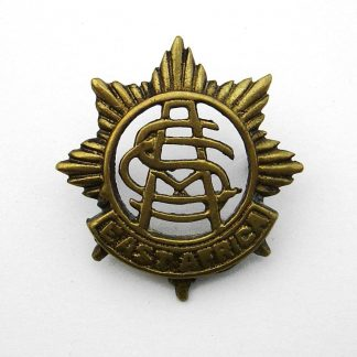 East Africa Army Service Corps cap badge - cast brass
