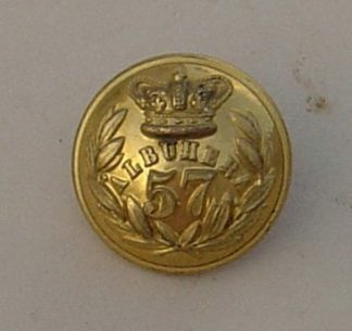 57th FOOT 25mm OFFICERS GILT BUTTON