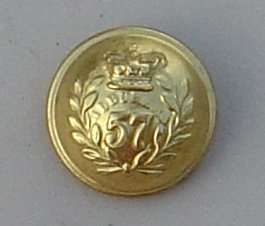 57th FOOT 25mm ORs TUNIC BUTTON