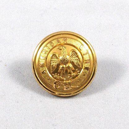 AMERICAN LINE 27 mm Gilt button -  Monnery and Son - London & Southampton -