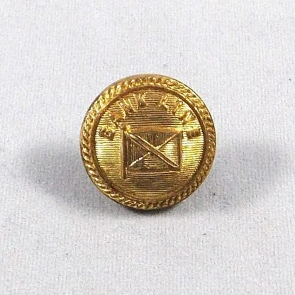 BANK LINE 21 mm medium gilt button - Officer Quality Nutting London N.C.