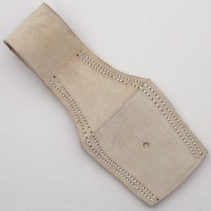 BRITISH WHITE 'Buff' LEATHER FROG Pat. 1871 for 1853, 1853/72 Pattern Enfield, Snider and Martini-Henry socket Bayonets