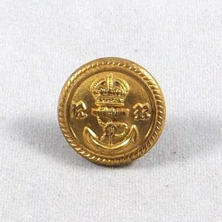 ROYAL NAVY RESERVE KC 25mm Gilt Officer's Button - roped edge plain background.