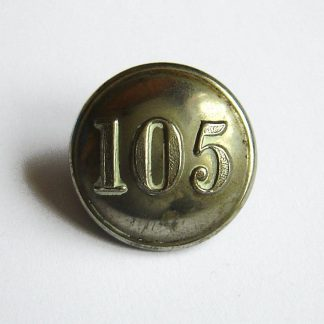 105th LANARKSHIRE RIFLE VOLUNTEERS 25mm White metal OR's button