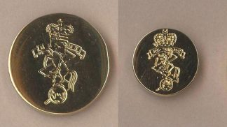 REME Blazer button plain Gilt un-mounted impressed with Cap Badge design