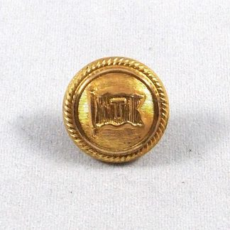 Flag with a 'T' in square upon the centre, 17mm roped border fine line background Officer's gilt button