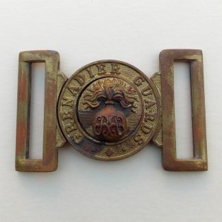 GRENADIER GUARDS ERII cipher interlocking brass buckle