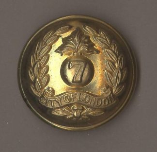 7th BATTALION, CITY OF LONDON REGIMENT 24mm Officer's Gilt Button