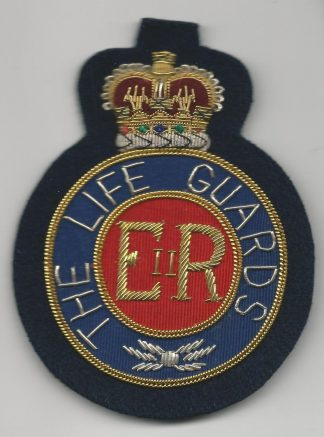 The LIFE GUARDS ERII Bullion Embroidered Blazer badge