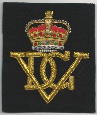 The 2nd Dragoon Guards QUEEN'S BAYS Bullion Embroidered Blazer badge