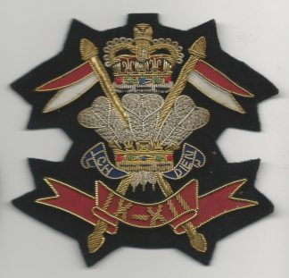 9TH/12TH LANCERS bullion wire embroidered Blazer badge