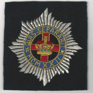 The 4th/7th DRAGOON GUARDS Bullion Embroidered Blazer badge