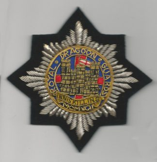 The  ROYAL DRAGOON GUARDS Bullion Embroidered Blazer badge