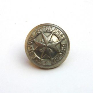 ST.JOHN'S AMBULANCE SERVICE 20mm nickel plated or's button