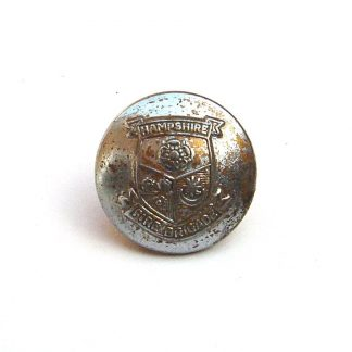 Hampshire Fire Brigade 20mm nickel plated button