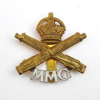 MOTOR MACHINE GUN CORPS bi/m re-strike cap badge