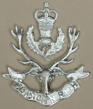 QUEENS OWN HIGHLANDERS (Seaforth and Cameron) Glengarry badge