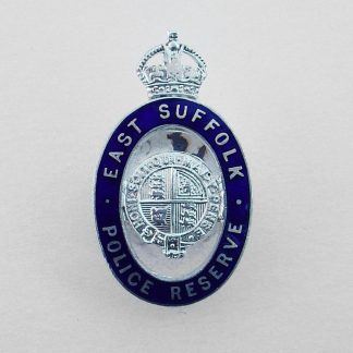East Suffolk Police Reserve KC silver plate and blue enamel lapel badge